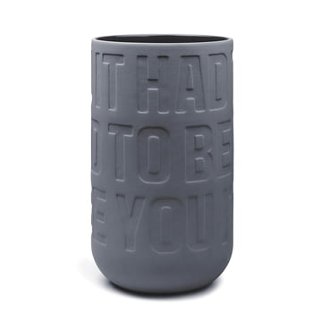Kähler Design - Love Song Vase H 300 in Anthrazit