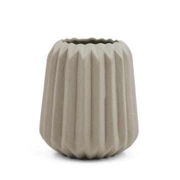 Riffle 2 Keramikteelichthalter / -vase von Novoform in grau