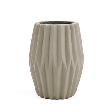 Riffle 3 Keramikteelichthalter / -vase von Novoform in grau