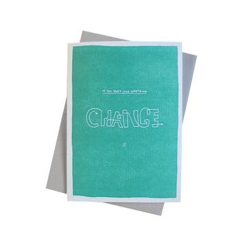 Color Block Wisdom Grusskarte Change von Sascha Mombartz für Holstee
