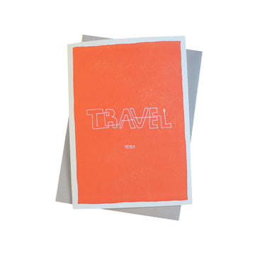 Color Block Wisdom Grusskarte Travel Often von Sascha Mombartz für Holstee
