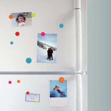 Farbige Magnete für den Kühlschrank