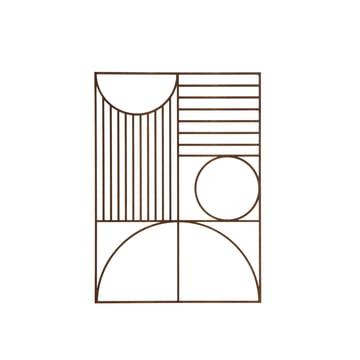 Outline Wanddekoration rechteckig von ferm Living und aus geräuchertem Eichenfurnier