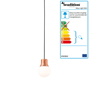 Die &Tradition - Mass Light NA5 Pendelleuchte, Kupfer