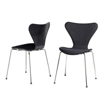 Fritz Hansen - Serie 7 Stuhl Frontpolster, schwarz