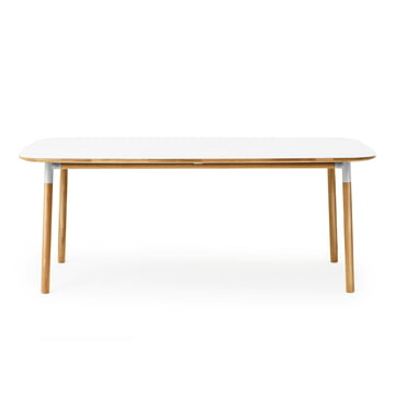 Form Table 95 x 200 cm von Normann Copenhagen aus Eiche in Weiss