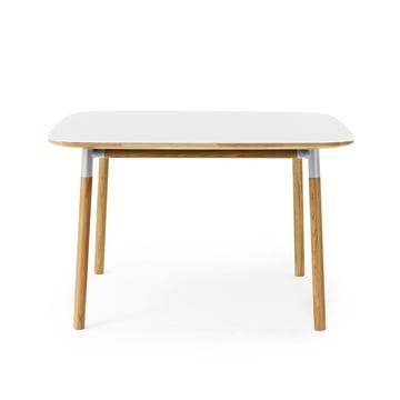 Form Table 120 x 120 cm von Normann Copenhagen aus Eiche in Weiss