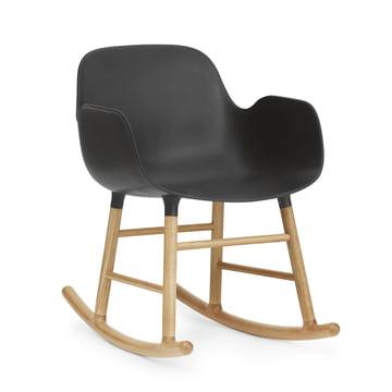 Form Rocking Armchair von Normann Copenhagen aus Eiche in Schwarz