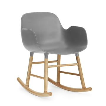 Form Rocking Armchair von Normann Copenhagen aus Eiche in Grau