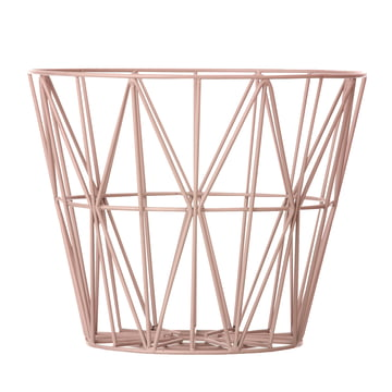 Wire Basket Medium von ferm Living in Rose