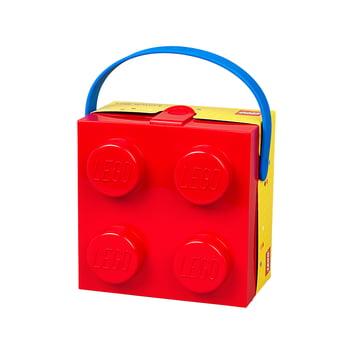 Lunch Box mit Griff von Lego in Rot