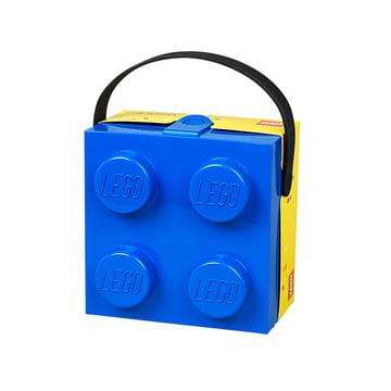 Lunch Box mit Griff von Lego in Blau und Gelb