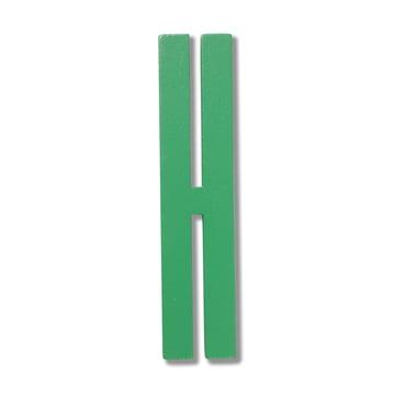 Design Letters - Wooden Letters Indoor H, grün