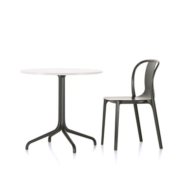 Belleville Bistrotisch und Belleville Chair Wood von Vitra