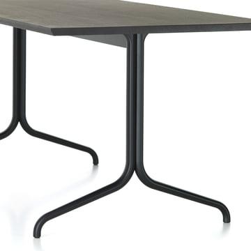 Detailansicht der Tischbeine des Belleville Esstisch Indoor, rechteckig, 200 x 80 cm von Vitra