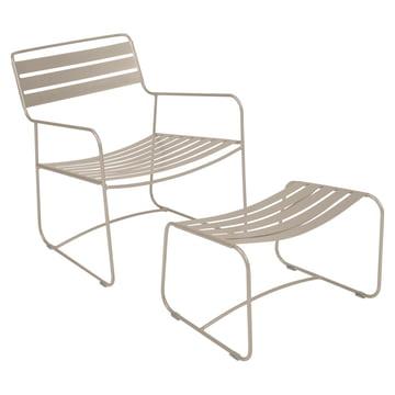 Surprising Lounger Sessel + Fußablage von Fermob in Muskat