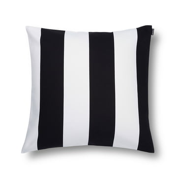 Marimekko - Juhlaraita Kissenbezug 50 x 50 cm, schwarz / weiss