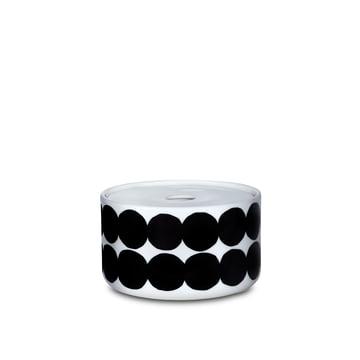 Das Oiva Siirtolapuutarha Vorratsglas mit einer Grösse von 450 ml in weiss / schwarz