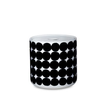 Das Oiva Siirtolapuutarha Vorratsglas in einer Grösse von  700 ml in weiss / schwarz