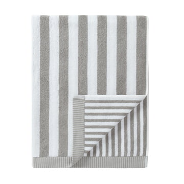 Marimekko - Kaksi Raitaa Badetuch, grau / weiss 75 x 150 cm