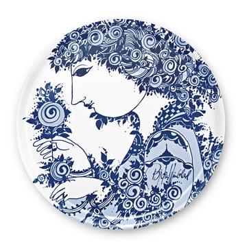 Bjørn Wiinblad - Tablett Rosamunde, blau