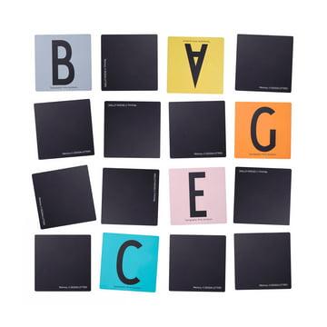 Design Letters - AJ Memory Spiel, ausgebreitet, Hintergrund weiss