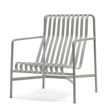 Der Palissade Lounge Chair High von Hay in hellgrau