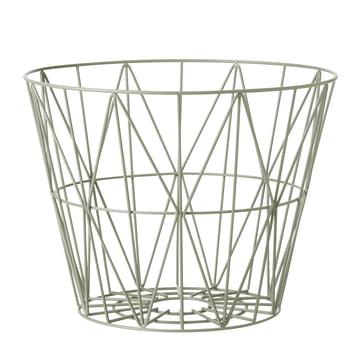 Wire Basket von ferm Living in Dusty Green