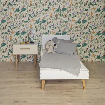 debe.deline Kinderbett und Nachttisch mit Schublade von De Breuyn