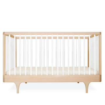Babybett Caravan Crib von Kalon aus Ahorn in Weiss