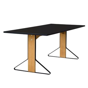 REB 001 Kaari Tisch 200 x 85 cm von Artek in Hochglanz Schwarz aus Eiche natur
