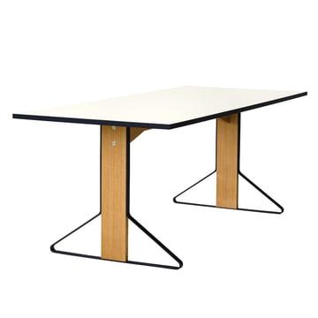 REB 001 Kaari Tisch 200 x 85 cm von Artek in Hochglanz Weiss aus Eiche natur
