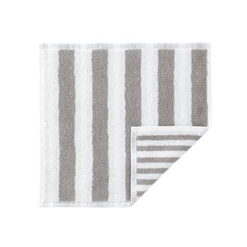 Marimekko - Kaksi Raitaa Mini-Handtuch, weiss / grau 30 x 30 cm