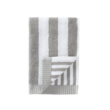 Marimekko - Kaksi Raitaa Gästehandtuch, grau / weiss, 30 x 50 cm