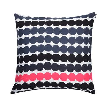 Marimekko - Räsymatto Kissenbezug 50 x 50 cm, schwarz / weiss / pink