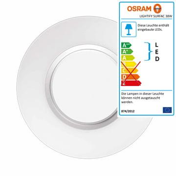Lightify Surface Light Decken- und Wandleuchte 38 W von Osram