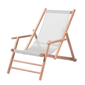 Deckchair Teakholz von Jan Kurtz in Weiss