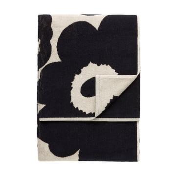 Marimekko - Unikko Strandtuch 100 x 180 cm, schwarz / sand