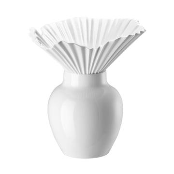 Die Falda Vase von Rosenthal in weiss glasiert