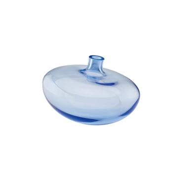 Die Rosenthal Swinging Vase in der Grösse 14 cm und der Farbe mitternachtsblau / klar