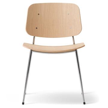 Søborg Stuhl von Fredericia aus Eiche und Chrom