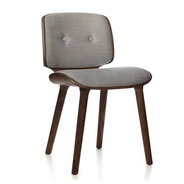 Nut Dining Chair von Moooi in Eiche zimtfarben mit Bezug Macchedil Sot