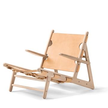 Hunting Chair von Fredericia aus Eiche geseift und Sattelleder