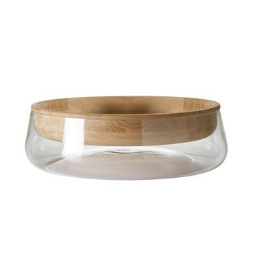 Peruse - Double Bowl, small, Eiche geölt / Glas klar