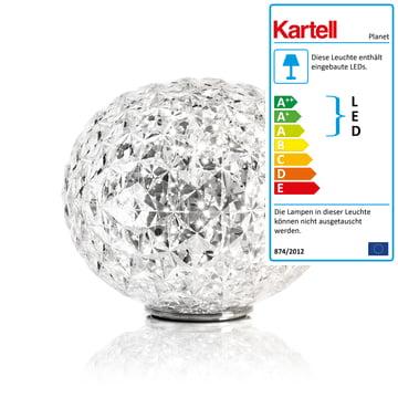 Planet LED Tischleuchte mit Sockel von Kartell in Glasklar