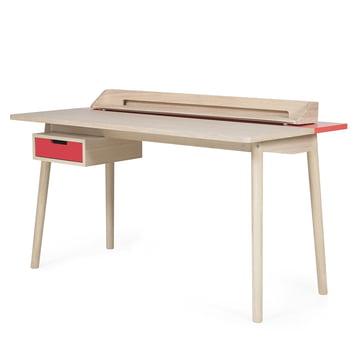 Honoré Schreibtisch von Hartô in Erdbeerrot (RAL 3018)