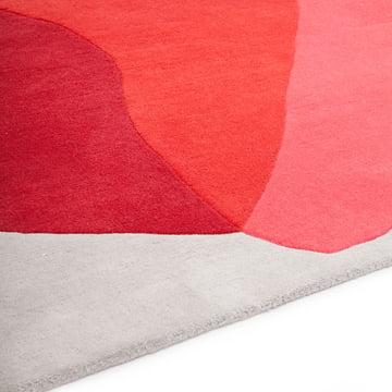 Teppich mit Farbklecksen in Rot und Pink Cameo