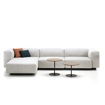 Soft Modular 3-Sitzer mit Chaiselounge und Occasional Low Table