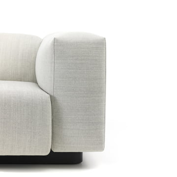 Soft Modular Sofa mit schwarzem Rahmen