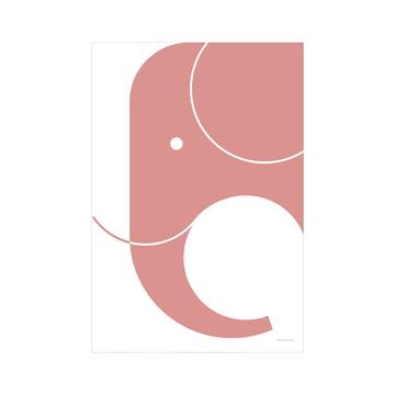 snug.elephant Art Print von Snug.Studio in pink